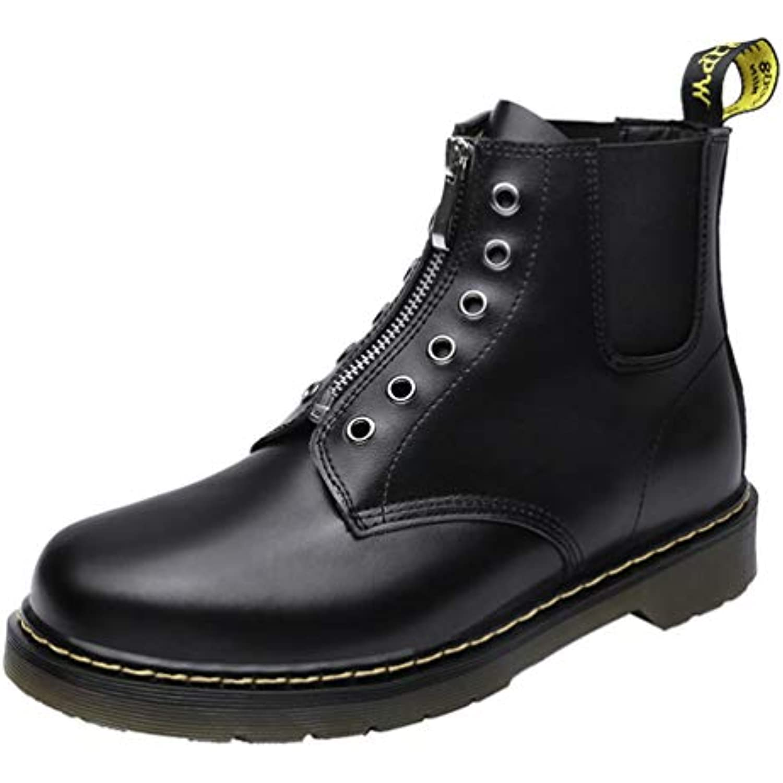 Feidaeu Hommes Chaussures Mode Bottines Montant Boots Casual Rond Boots Montant Cuir Moto Travail Bureau Martin Boots - B07JZ6K74Y - 292c98