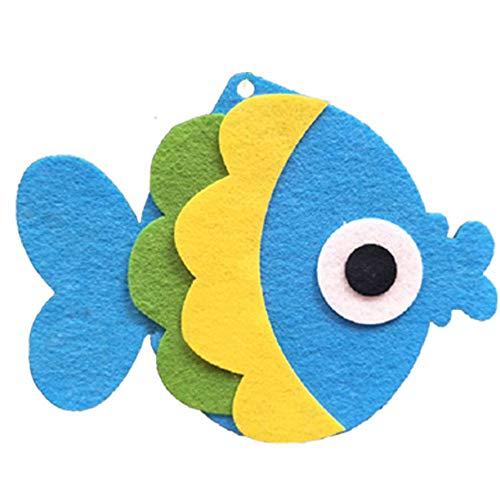 Merssavo 1x Meerestiere Tropical Angel Fisch Goldfisch mit Seetang Seil Kleine Figur Spielzeug Ozean Kreaturen für Dekoration -