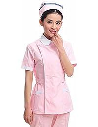Xuanku Enfermera Manga Corta Manga Corta Traje De Cuerpo Directo Enfermera Enfermera Farmacia Belleza Ropa