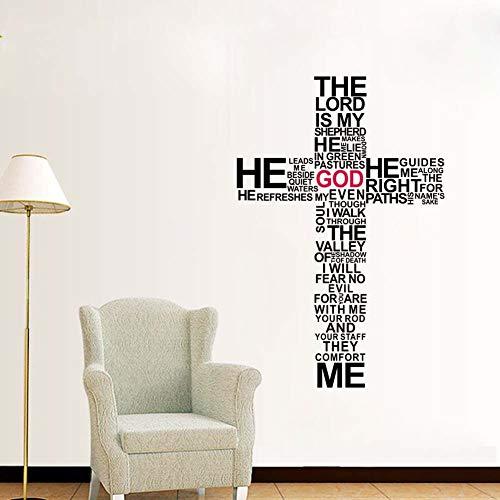 wandaufkleber Kreuz Jesus Christus Psalm beten Bibel Gott Schlafzimmer -