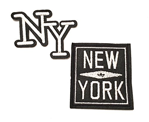 York Auf Patch-new Eisen (New York City, New York New York, NYC, City SO NICE Sie benannt zweimal, 2pc NYC Reisenähset Patches, Jacke Patches, Jean Patches, hat Patches, Rucksack Patches)