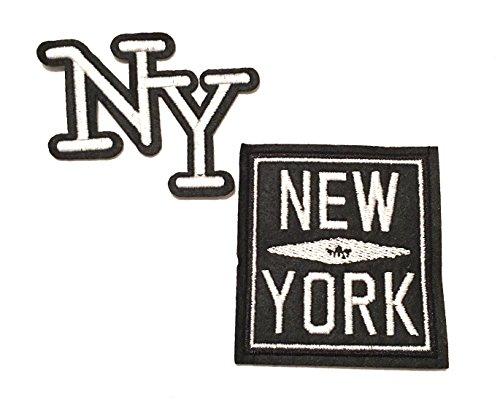 York Patch-new Eisen Auf (New York City, New York New York, NYC, City SO NICE Sie benannt zweimal, 2pc NYC Reisenähset Patches, Jacke Patches, Jean Patches, hat Patches, Rucksack Patches)