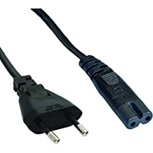 Cable de alimentación bipolar de 2polos, 1,4m, enchufe europeo para PlayStation 1PS1/2PS2/3PS3/4PS4/4Slim
