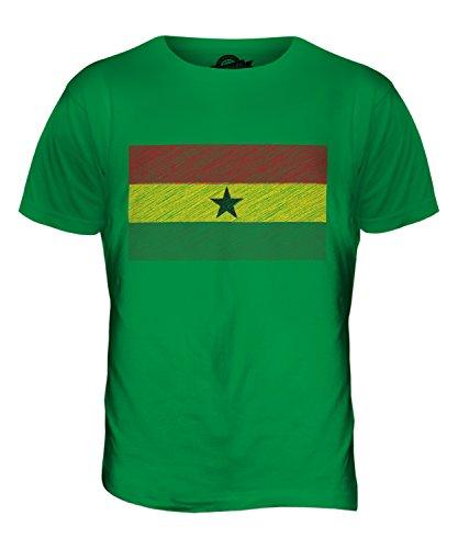 CandyMix Ghana Kritzelte Flagge Herren T Shirt Grün