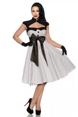 Rockabilly-Kleid mit einer Satinschleife