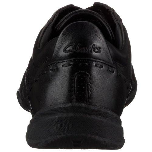 Clarks Flux Spring, Baskets mode homme Noir (Black Leather)