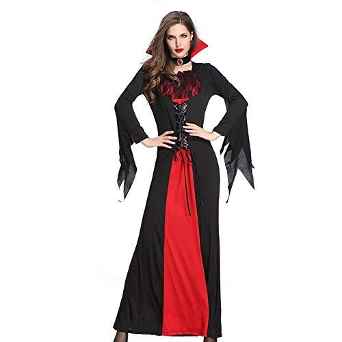 NFY Regina dei Vampiri Vestito Spaventoso Halloween Donna Costume Sexy Tute Puntelli Adatto Festa Abbigliamento Masquerade,XL
