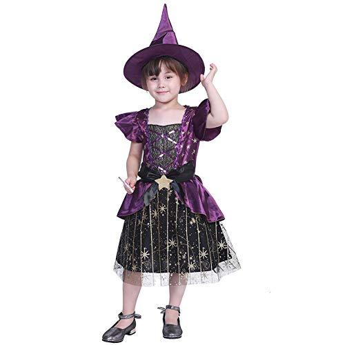YouN Cute Kid Mädchen Kostüme Sterne Hexe Halloween Leistung Kleidung Set - Mädchen Cute Kids Kostüm
