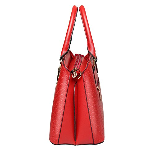 Bdawin, Borsa a mano donna bianco White Winered
