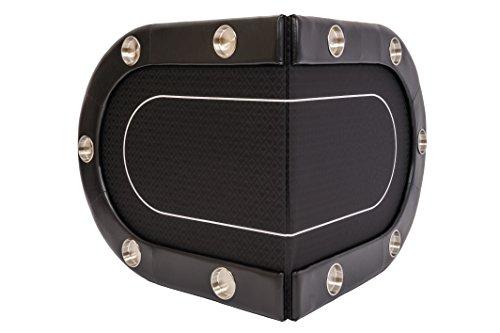 Riverboat Faltbare Pokerauflage mit Schwarzem wasserabweisenden Stoff und Tasche - Pokertisch 200cm - 6