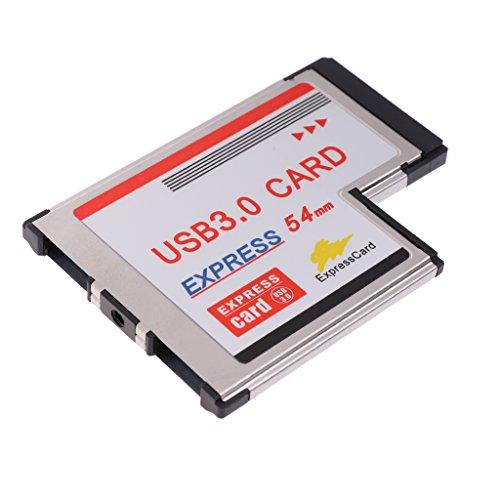 Homyl USB 3.0 Express Karte 54mm Adapter Expresscard Hub Hohe geschwindigkeit bis zu 5Gbps Inklusiv USB-Kabel
