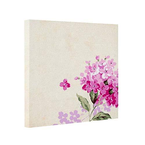 Hydrangea Giclee Canvas Art (cwb2jcwb2jcwb2j Wooden Framed Print Canvas Wall Art Square Watercolor Hydrangea Flower Canvas Print Bedroom Bathroom Decoration (20 * 20Cm))