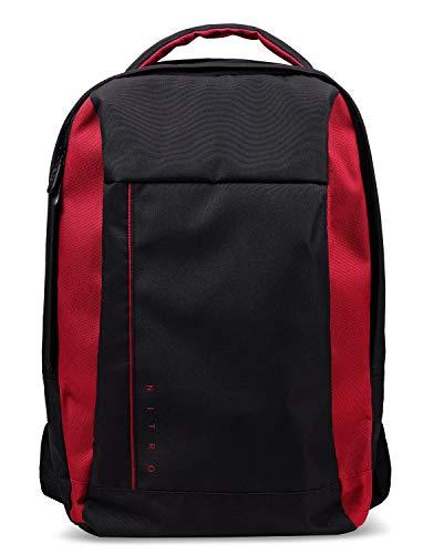 Acer Nitro Gaming Rucksack (15,6 Zoll, wasserabweisend, gepolstertes Innenleben, komfortable Schulterriemen und Rückenpartie) schwarz/rot