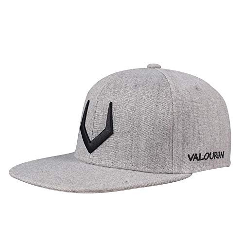 VISER Unisex Dance Performance Show Punk Rivet Hip Hop Mütze Baseballmützen für Herren Vintage Snapback Outdoor Sports Cap Trucker Polo Pingpong-Fußball-Hut (Color : Gray)