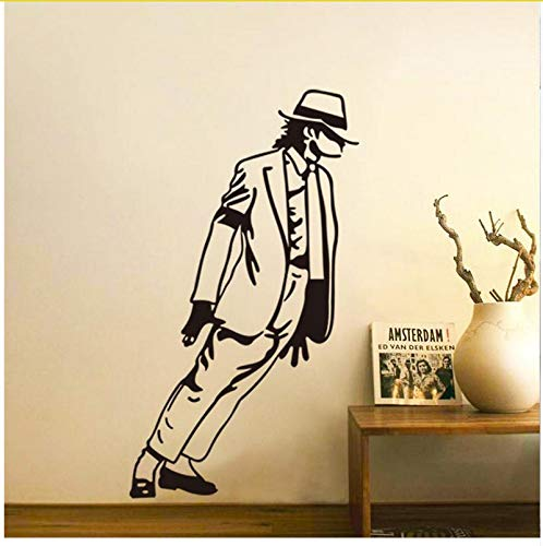 Tanzen Michael Jackson Junge Mädchen Fans Schlafzimmer Dekor Wandaufkleber Abziehbilder Poster Home Decor Musik Hübsches Geschenk