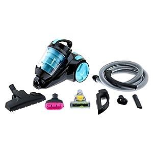 H.Koenig SLS890 Silence+ beutelloser Staubsauger / Bürsten für Haustiere / 2,5 Liter Kapazität / HEPA Filter / EEK A / blau/schwarz