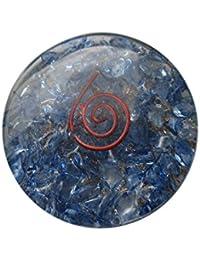 Blue Orgone redondo disco Reiki Curación