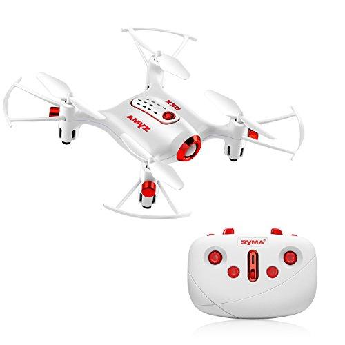 Syma X20 Drone Mini UFO RC Quadrocopter Nano Drohne Remote Control Spielzeug Mit Kopflose Modus einer On the shelf down Start /Landung Höhe Haltefunktion 2,4 GHz 6-Achsen-Gyro Quadcopter (weiß)