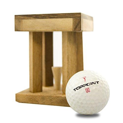 Woods Handicap - Das Golfrätsel –Personalisiert mit [Text] - Knobelspiele aus Holz inkl. Golfball – Lustige Golf Geschenke - Geschenke für Golfer – Golfball Geschenk – Geschenkpackung für Golfbälle - 3