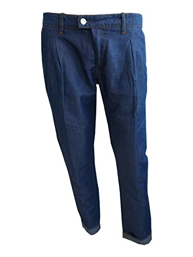 Paolo Pecora Milano Jeans Chinos Uomo Made in Italy (Jeans, 32)