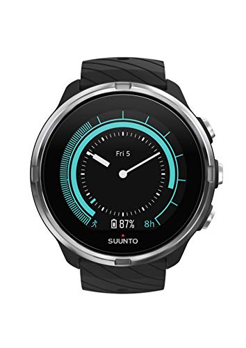 SUUNTO 9 GPS-Uhr, Unisex-Erwachsene, No Baro/HR Strap, schwarz, Einheitsgröße -