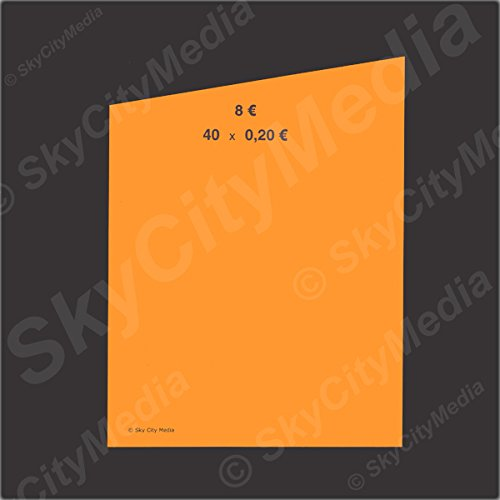 Münzrollpapier für Euro Münzen je 50x ( 0,20 € Papier) für Geldrollen / Rollgeld Münzrollenpapier / Handrollpapier / NEU