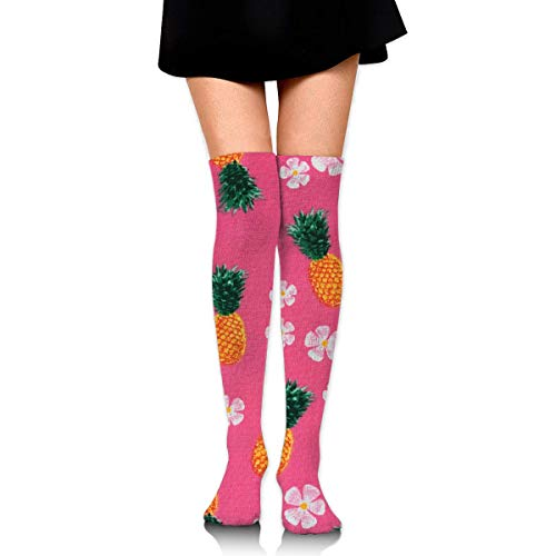 DFSDFSASDF Pink Pineapple Cherry Blossoms Ankle Stockings Over The Knee Sexy Womens Sports Athletic Soccer Socks - Pineapple Blossom