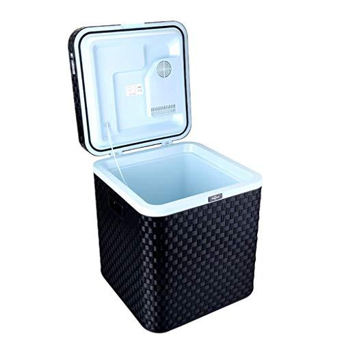 LXDDB 48L Auto Kühlschrank tragbares Auto nach Hause Dual-Use-Mini-Gefrierschrank Kühlschrank 12V/220V Wohnung Heizung und Kühlung Box - schwarz -