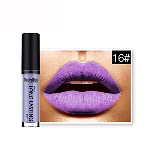 Malloom Rouge à Lèvres Mat Imperméable à L'eau Rouge à Lèvres Liquide Brillant à Lèvres Longue Durée