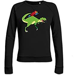 Sudadera de mujer Parrot On T-Rex by Shirtcity