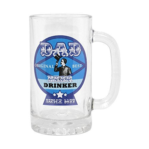 Dad best beer drinker glass stein tankard & gift box father's day gift him