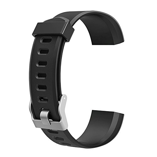 JUNERAIN colorato Metallo di Accessori di Ricambio per ID115PLUS HR Smart Watch Nero