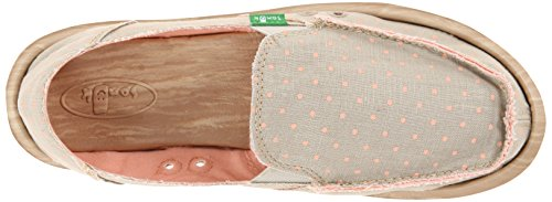 Sanuk Hot Dotty side Walk Women Surfers natural-peach dots