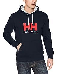 Helly Hansen HH Logo Hoodie Sudadera con Capucha, Hombre, (Azul Navy 597), Medium (Tamaño del Fabricante: M)