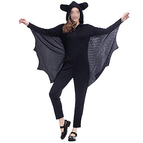 Hzjundasi Halloween Kostüme - Kind Erwachsene Gemütlich Fledermaus Overall Mädchen Jungen Frau Männer Familie Vampir Tier Cosplay Kostüm - Fledermaus Frau Kostüm Kinder