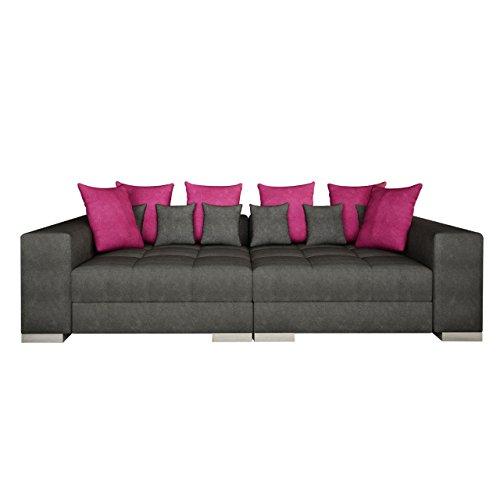 Sofa Bonn mini, Moderne und Groß Couch, Sofagarnitur, Couchgarnitur, Bigsofa vom Hersteller, Wohlandschaft, Microfaser (Hermes 6408 + Lumia 110)