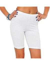 e4a6fa7726b3f5 ITISME Jambières Femmes Taille Moyenne Dentelle Hot Shorts Pants Pantalons  Élastique Grande Taille des Sports Pantalons