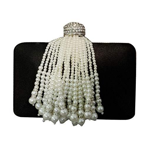 SYZ Celebrity Wild Quaste Perle Tasche Bankett Tasche Abendkleid Handtasche Bankett Clutch Bag für Damen Celebrity Abendkleid