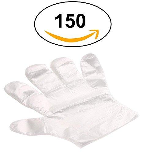 150Vielzweck Einweg Transparent Handschuhe–für Heimwerken, Gartenarbeit, Kochen, Friseur, Reinigung, Lebensmittel Prep, Halten Sie...