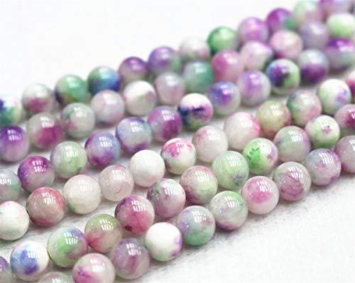 Perles de jade en gros, 6 mm, 8 mm, 10 mm, 12 mm, perles de jade lisses et rondes. 6mm,63pcs