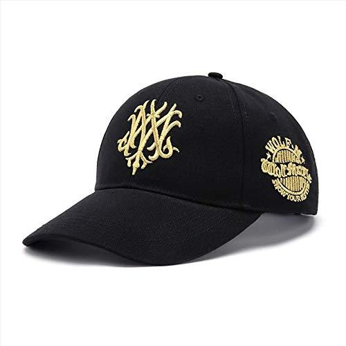 Long HatBaseballmütze M Wolf 7 Generation koreanische Version der Kappe Frühling und Herbst Männer großen Kopf Hut schwarz mit Gold XL großen verstellbaren 59-61cm