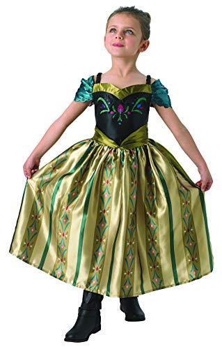 Halloweenia - Mädchen Kinder Anna Frozen Kostüm mit Prinzessinnenkleid Coronation Dress, perfekt für Karneval, Fasching und Fastnacht, 122-128, - Coronation Anna Kostüm