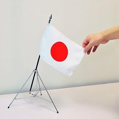 Mini bandiera nazionale Hinomaru treppiede impostare [con la bandiera nazionale 16 ~ 24 centimetri ? custodia semi-mille-stadio poli