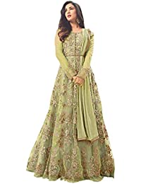 d43518e71e6 Drashti villa Women s Heavy Net Gown Embroidered Semi Stitched Anarkali Gown  women gowns for girls latest