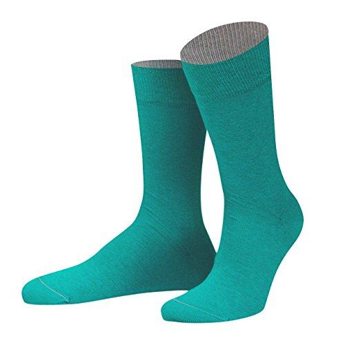 von Jungfeld - Herren Socken/Strumpf Herrensocken Baumwolle 1 Paar 42-44 türkis
