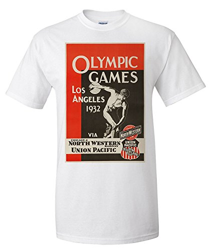 los-angeles-olympic-games-1932-north-western-union-pacific-vintage-poster-usa-c-1932-premium-t-shirt