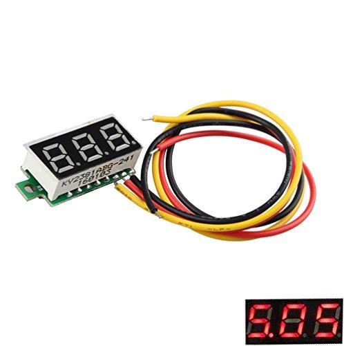 LDTR-WG0113 0,28 Zoll Digitalanzeige Ultrakleines Digital-DC-Spannungsmessgerät Voltmeter Einstellbar Drei Line DC 0 ~ 100V Batteriespannungsmessgerät PCB-Entwicklungsplatine Modul DDR3 Blink Peltier