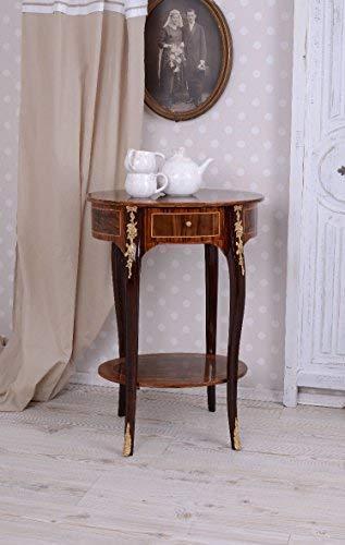 PALAZZO INT Barocker Teetisch Beistelltisch Intarsien Konsolentisch Telefontisch