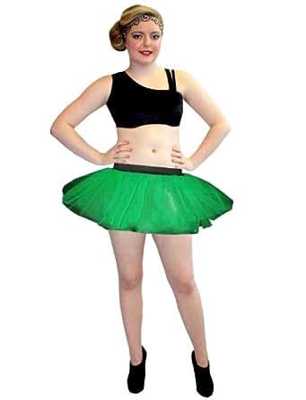 Neon UV Dark Green 4 Layers Tutu Skirt
