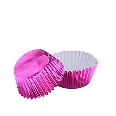 Yaxitu Metallic Folie beschichtetes Papier Kuchen Tasse Cupcake Fällen Liner